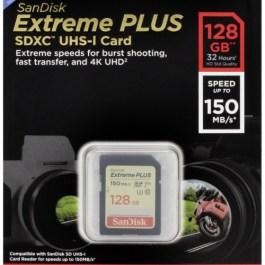 SanDisk mälukaart SDXC 128GB Extreme Plus V30 U3