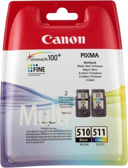 Canon tint PG-510/CL-511, värviline/must