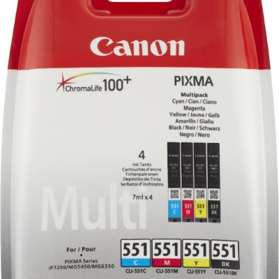 Canon tint CLI-551 Multipack, värviline/must