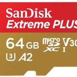 SanDisk mälukaart microSDXC 64GB Extreme Plus V30 A2 + adapter