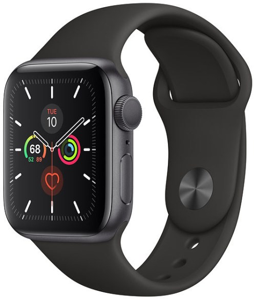 Apple Watch 5 GPS 44mm Sport Band, space grey/black