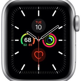 Apple Watch 5 GPS 40mm Sport Band, silver/white