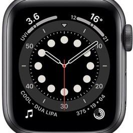 Apple Watch 6 GPS + Cellular 40mm Sport Band, space grey/black (M06P3EL/A)
