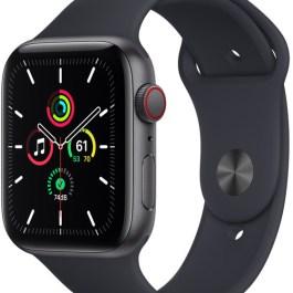 Apple Watch SE GPS + Cellular 44mm Sport Band, space grey/midnight (MKT33EL/A)