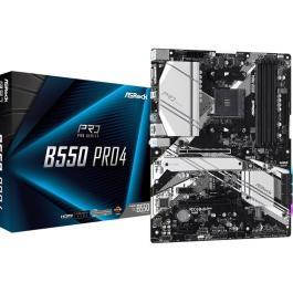 Mainboard|ASROCK|AMD B550|SAM4|ATX|2xPCI-Express 3.0 1x|1xPCI-Express 3.0 16x|2xM.2|1xPCI-Express 4.0 16x|Memory DDR4|Memory slots 4|1x15pin D-sub|1xHDMI|1xUSB type C|5xUSB 3.2|1xPS/2|1xRJ45|3xAudio port|B550PRO4