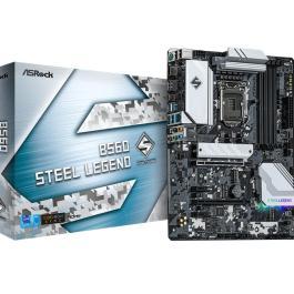 Mainboard|ASROCK|Intel B560|LGA1200|ATX|Memory DDR4|Memory slots 4|2xPCI-Express 16x|2xPCI-Express 3.0 1x|2xM.2|1xHDMI|1xDisplayPort|2xUSB 2.0|4xUSB 3.2|1xPS/2|1xOptical S/PDIF|1xRJ45|5xAudio port|3xWiFi antenna port|B560STEELLEGEND