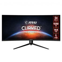 LCD Monitor MSI OPTIX MAG342CQR 34″ Gaming/Curved/21 : 9 Panel VA 3440×1440 21:9 144Hz Matte 1 ms Swivel Pivot Height adjustable Tilt OPTIXMAG342CQR