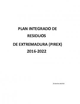 Plan Integrado De Residuos de Extremadura