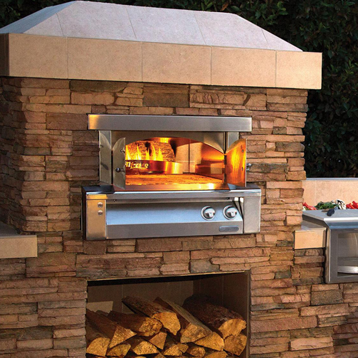 Alfresco 30 Inch Built In Gas Outdoor Pizza Oven Extreme