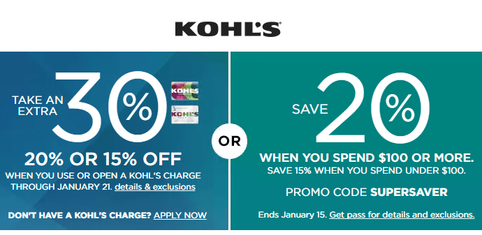 Kohls Coupon Codes Up To 30 OFF And Some Are Stackable