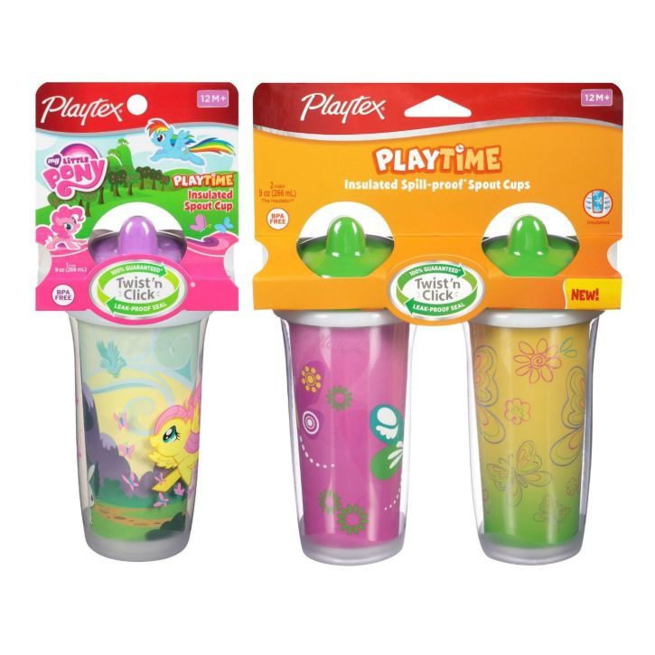 Playtex Baby Playtime Insulated Spill-Proof Spout Cups