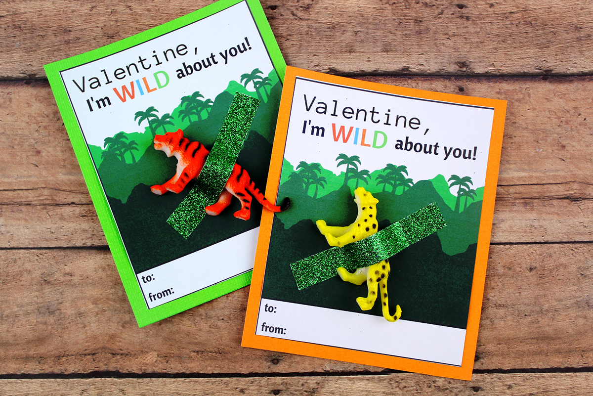 DIY Wild About You Valentines Day Card Extreme