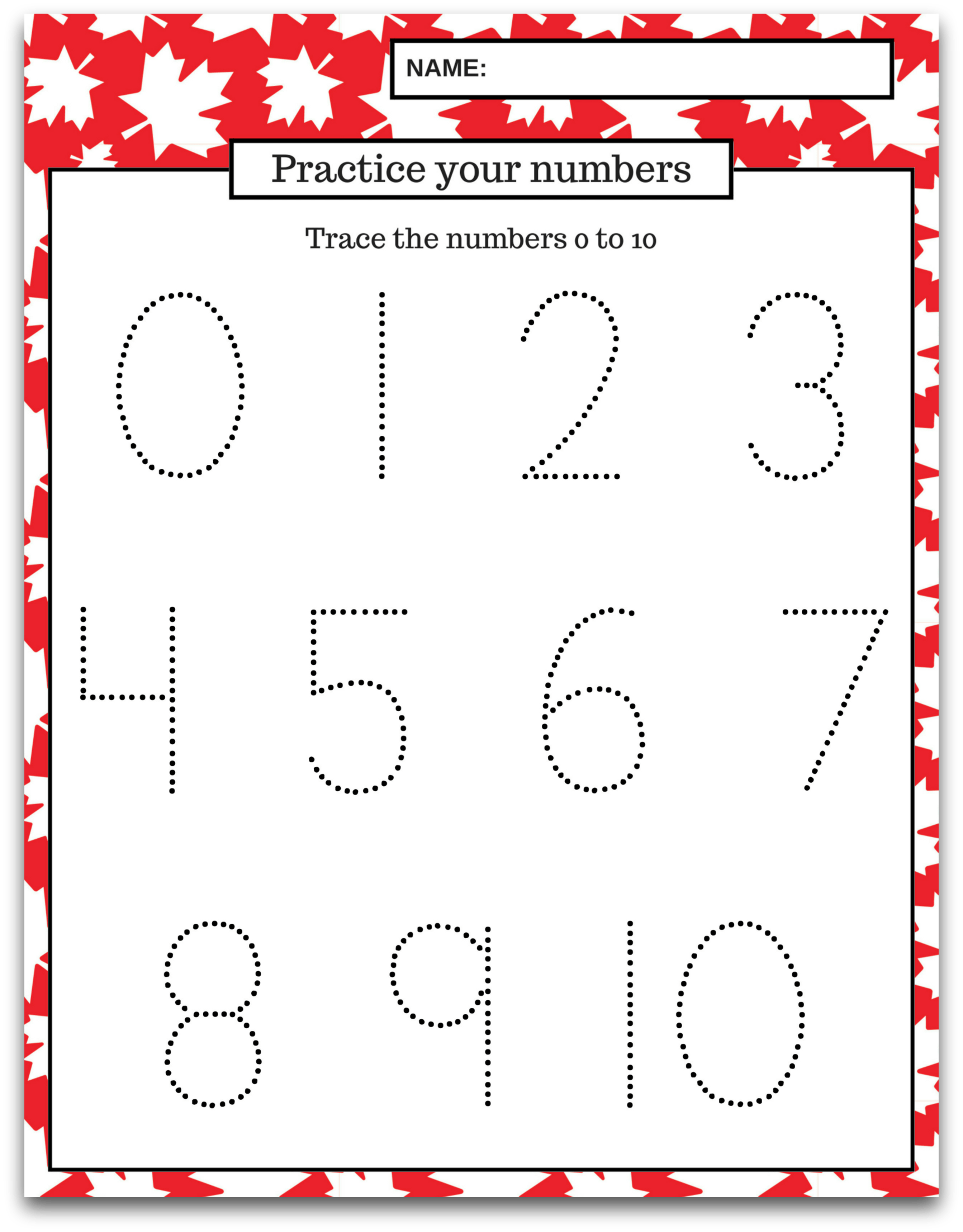 Free Printable Canada Day Preschool Learning Package