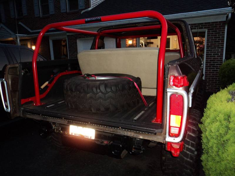 Full Size Bronco 6 Point Rear Family Roll Cage Kit 78 79