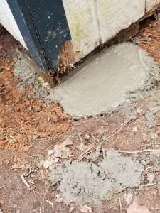 Shed Foundation Concrete Footer
