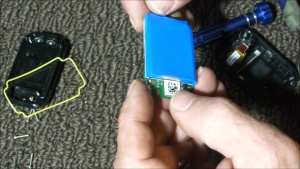 New GoPro Battery on Back of Circuit Board
