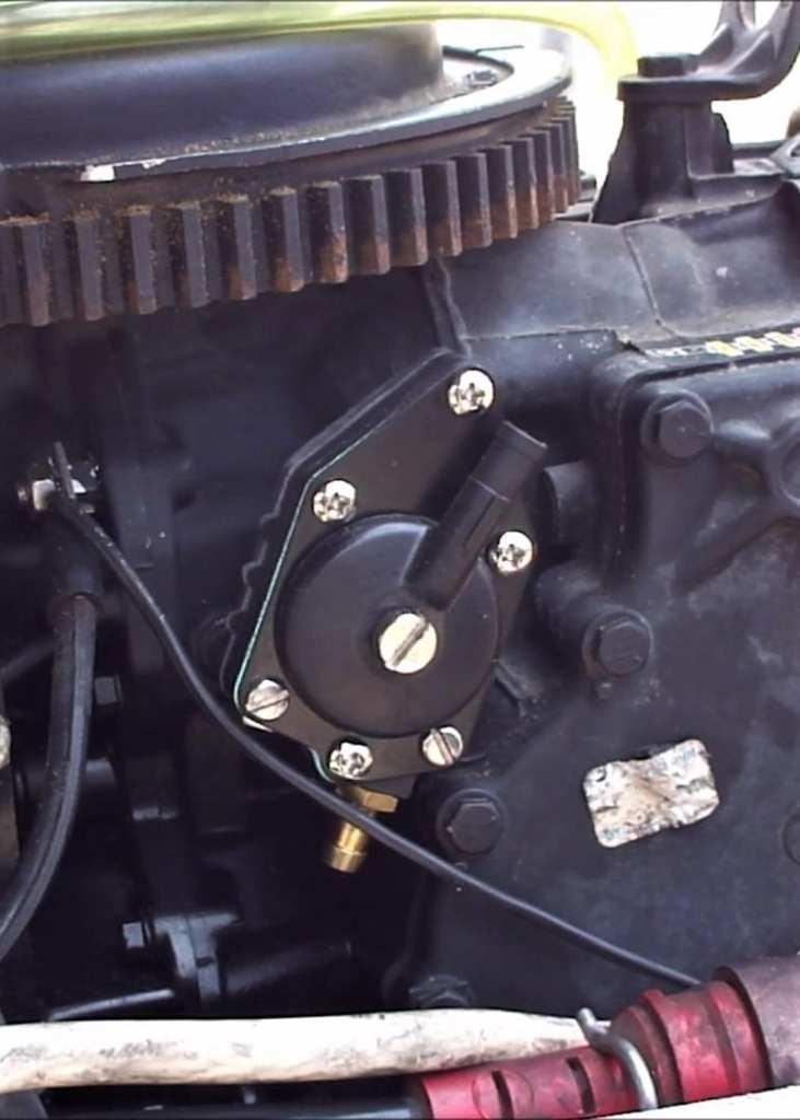 Johnson Evinrude Installed Fuel Pump