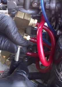 Plugging vro oil pump impulse line