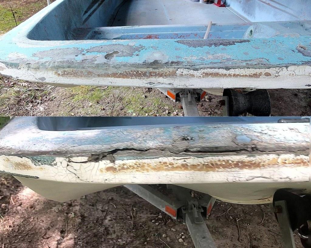 fiberglass repair delamination before after
