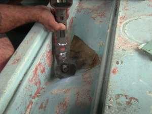 Cutting Away Bad Fiberglass