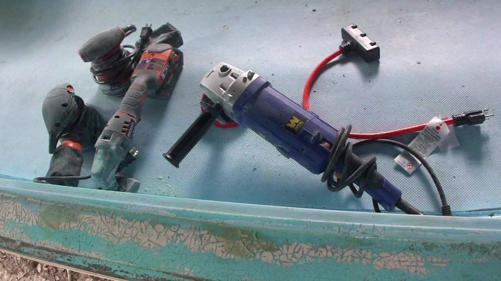 fiberglass paint sanding tools
