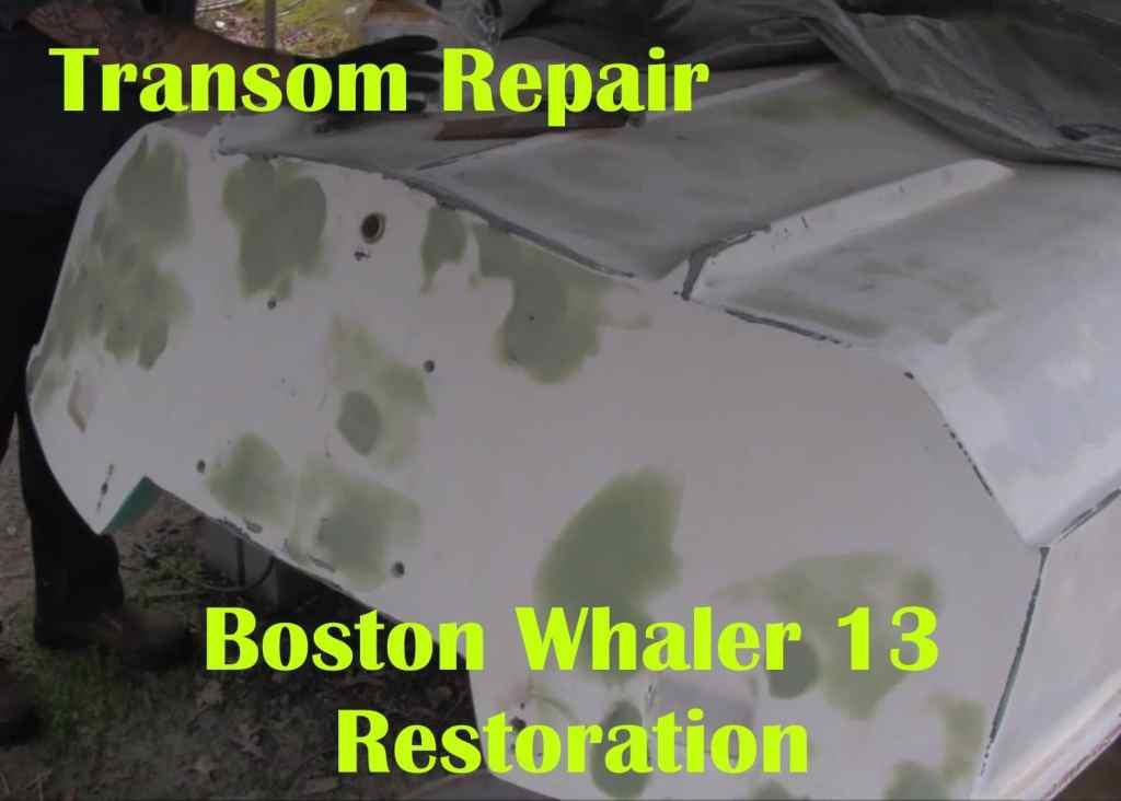 sealing boat transom fiberglass repair