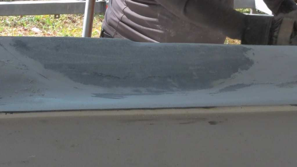 Hull Fiberglass Repair After Final Sanding