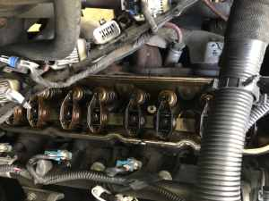 Chevy 5.3 Valve Train - Valve Cover Removed