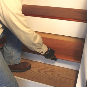 Remodel With Prefinished Stair Treads Extreme How To   Pre Stained Stair Treads   Stain Wood   Luxury   Natural Wood   Step   Gray Wood