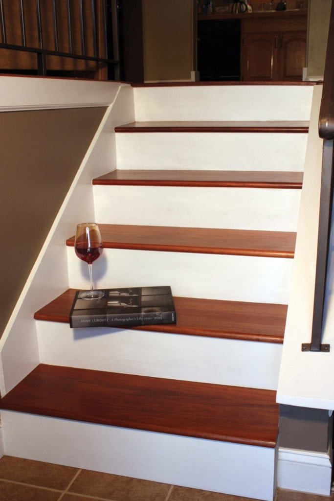 Remodel With Prefinished Stair Treads Extreme How To | Converting Carpeted Stairs To Wood | Stair Tread | Staircase Makeover | Laminate Flooring | Wood Flooring | Risers