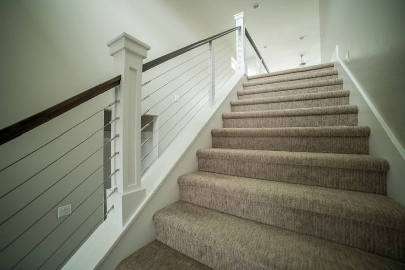 Lighting Basement Washroom Stairs: How To Frame A Half Wall At The Top Of Stairs