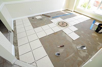 adding a medallion to a tile floor