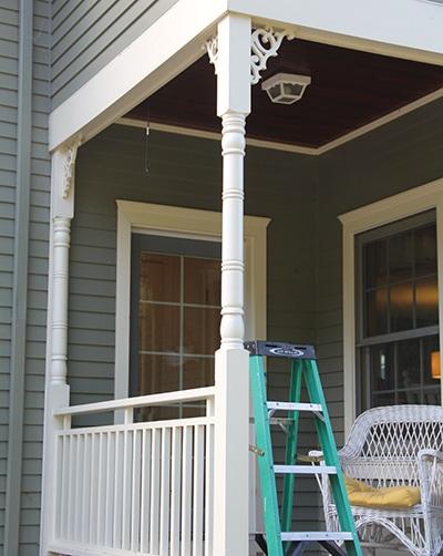 structural porch column rot repair