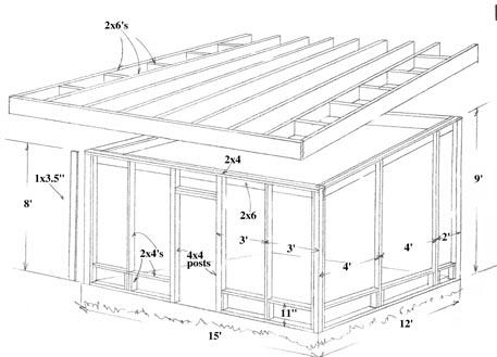 porch roof framing diagram