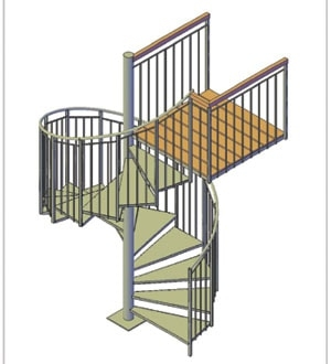 How To Build A Spiral Staircase Extreme How To | Outdoor Spiral Staircase For Deck | 36 Inch Diameter | Small Footprint | Steel | Balcony Outdoor | 2 Story
