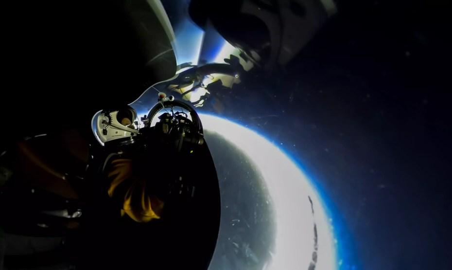 ricoh theta s captures the U-2 cockpit and eclispe shadow on the ground