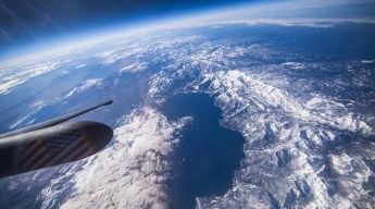 a look at Lake Tahoe from 13 miles overhead in the U-2