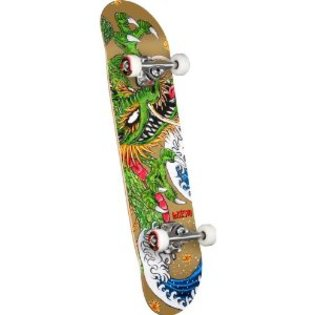 PGD Caballero Ink Complete Skateboard (Gold 7.625 Inch)