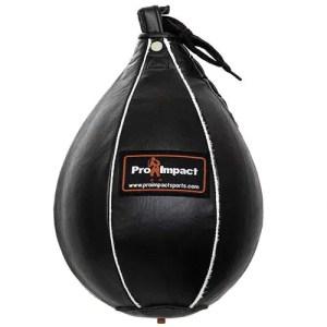 Pro Impact Genuine Leather Speedbag Black