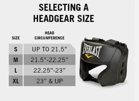 Size headgear
