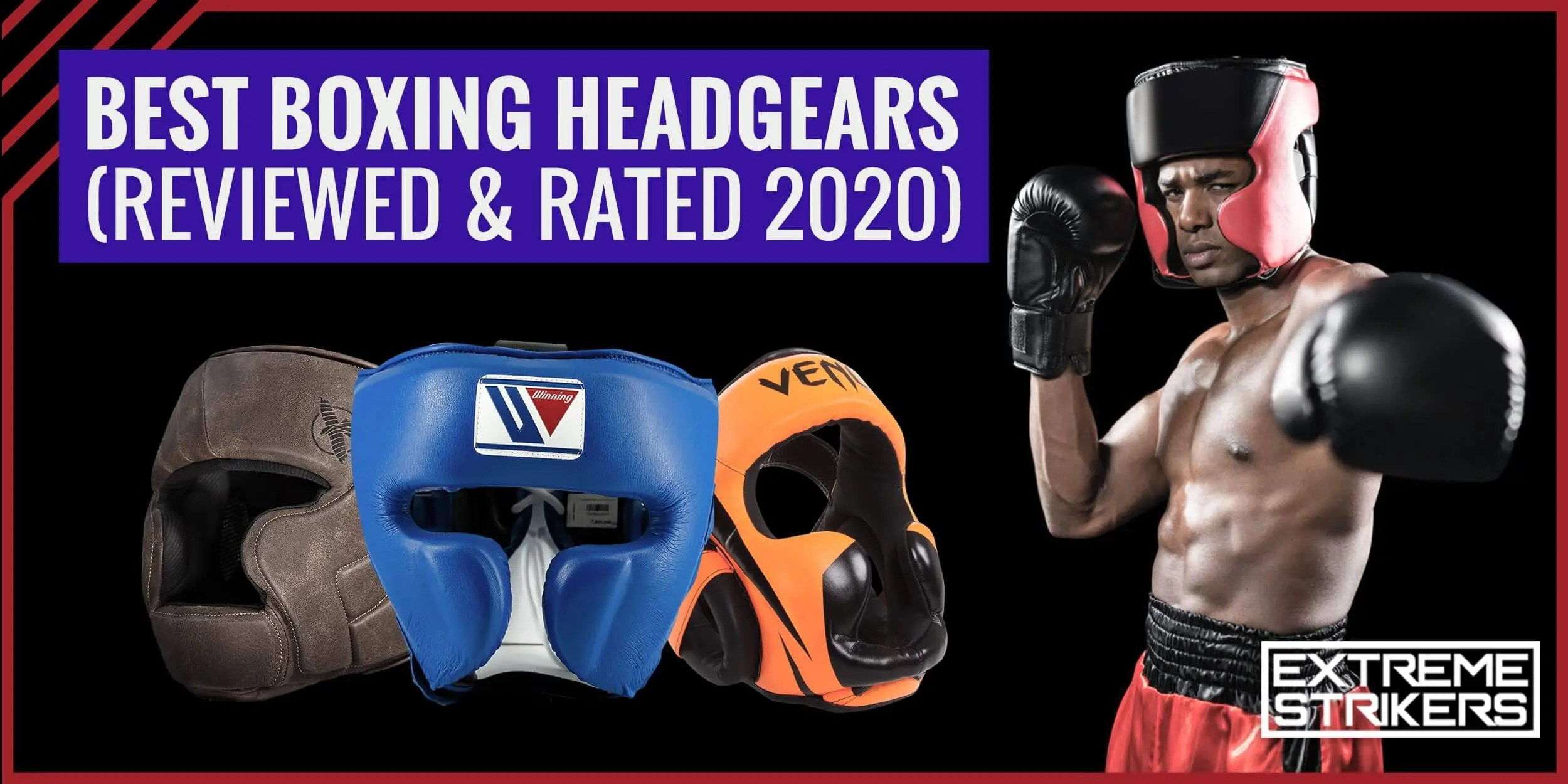 4 Sizes Black Boxing or MMA Protective Head Gear