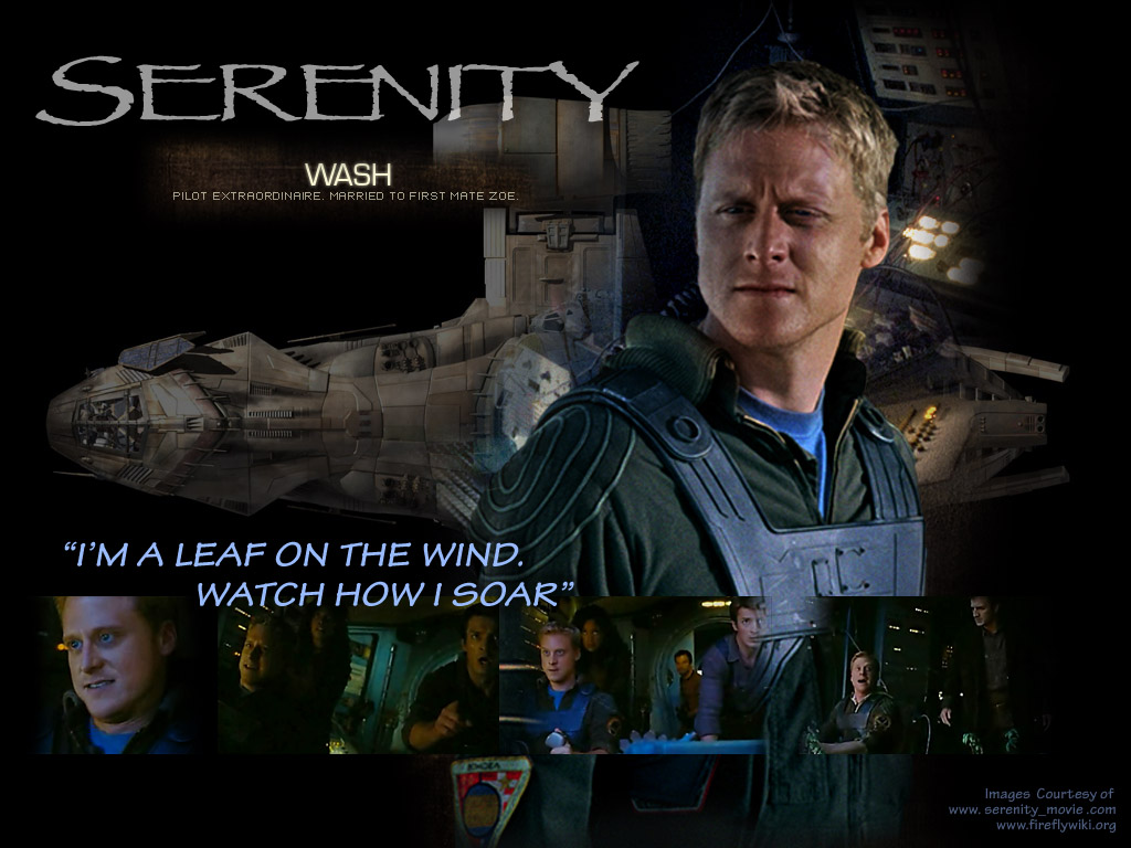 Wash with Serenity.  Movie promo poster
