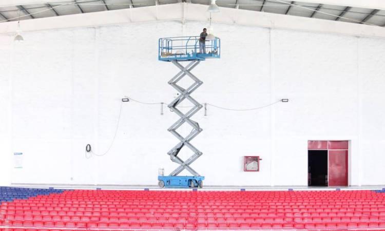 Invierten 2 Mdp en renovación del Polideportivo