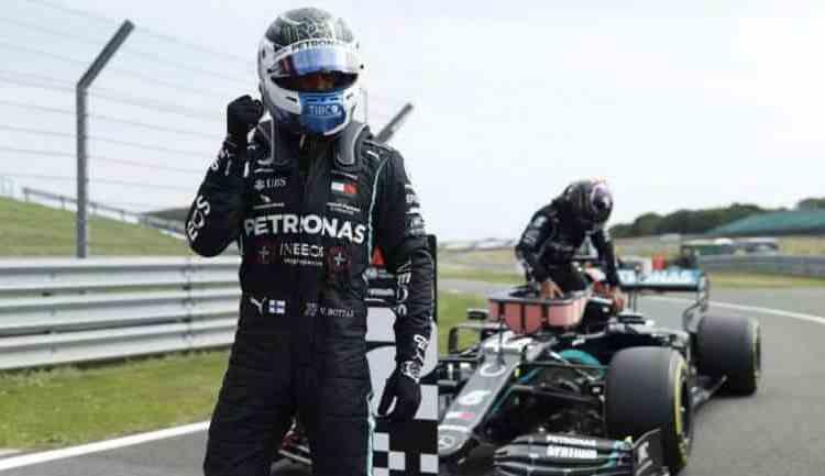 F1: Bottas le arrebató la 'Pole' a Hamilton y saldrá primero en el GP 70 aniversario