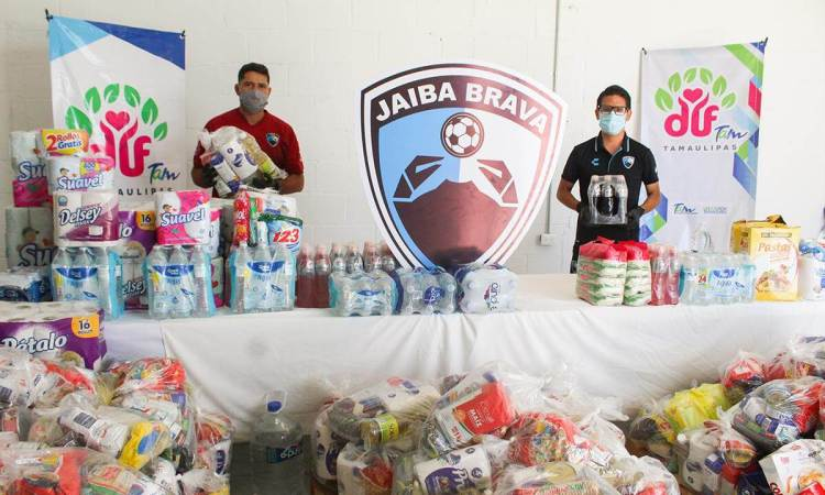 La Jaiba Brava entrega 1.5 toneladas de ayuda a damnificados de Reynosa