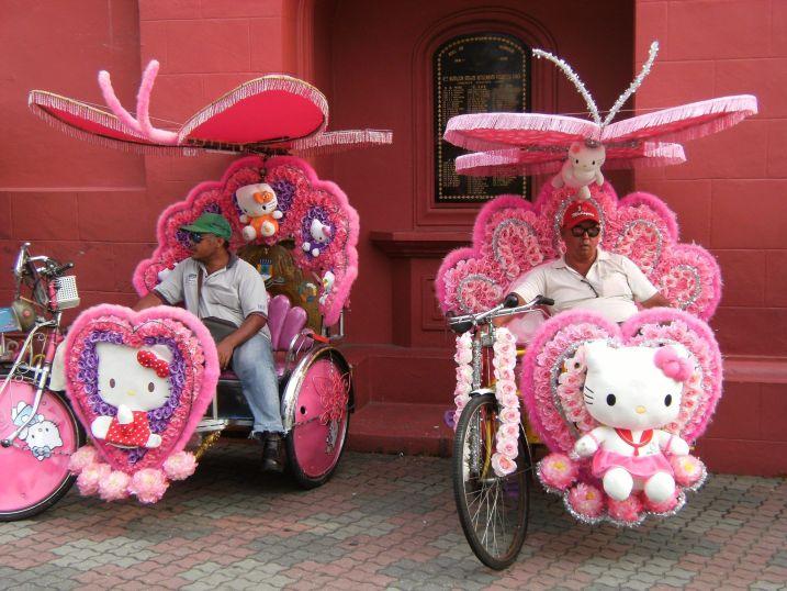 Bici-taxi, Malaca, Malasia