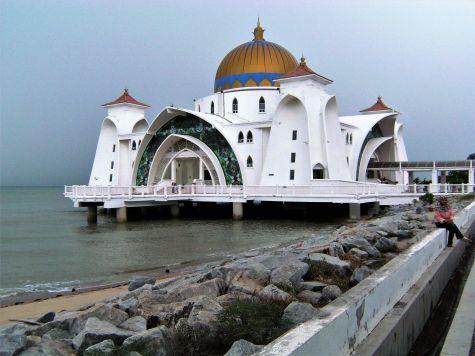 Masjid Selat Melaka, Mezquita flotante, Malaca, Malasia