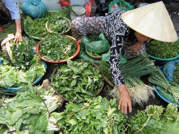 Mercado en Vietnam