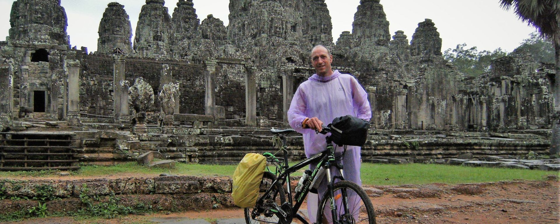 Bayon Temple and bike, Angkor, Cambodia