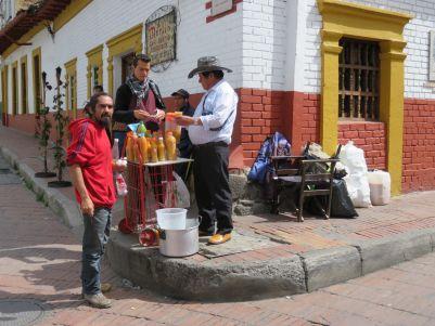 Venta de chicha en Bogotá